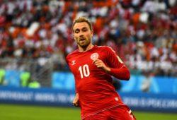 16th June 2018, Mordovia Arena, Mordovia, Russia; FIFA World Cup WM Weltmeisterschaft Fussball Football, Group C, Peru versus Denmark; Christian Eriksen of Denmark PUBLICATIONxINxGERxSUIxAUTxHUNxSWExNORxDENxFINxONLY ActionPlus12037579 UlrikxPedersen