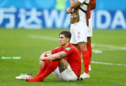 John Stones of England looks dejected