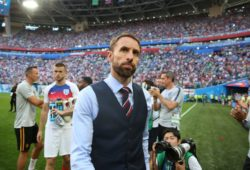 Gareth Southgate manager of England walks off the pitch during the FIFA World Cup WM Weltmeisterschaft Fussball 2018 Third Place Play Off match at the St Petersburg Stadium, St Petersburg. Picture date 14th July 2018. Picture credit should read: David Klein/Sportimage PUBLICATIONxNOTxINxUK