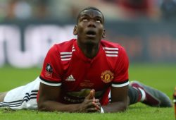 Paul Pogba of Manchester United looks dejected after missing a chance to score