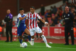 Wigan's Antonee Robinson and Stoke's Tom Ince