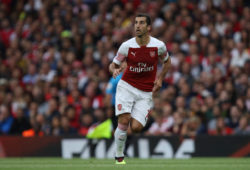 The Emirates Stadium, London, UK. 12th Aug 2018. Henrikh Mkhitaryan (A) at the Arsenal v Manchester City English Premier League game at The Emirates Stadium, London, on August 12, 2018. **This picture is for editorial use only** Credit: Paul Marriott/Alamy Live News