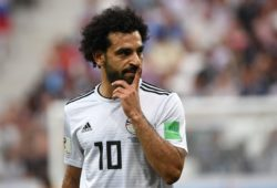 4.07630189 5557456 25.08.2018 Egypt?s Mohamed Salah reacts during the World Cup Group A soccer match between Saudi Arabia and Egypt at the Volgograd Arena, in Volgograd, Russia, June 25, 2018. Alexey Filippov / Sputnik  IBL