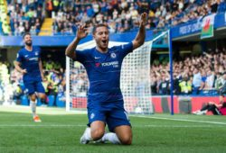 Eden Hazard of Chelsea scores and celebrates 1-1