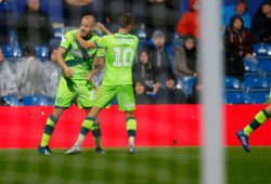 Norwich's Teemu Pukki celebrate during the EFL Sky Bet Championship match between Queens Park Rangers and Norwich City at the Loftus Road Stadium, London