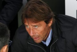 Former Chelsea manager Antonio Conte watches the match