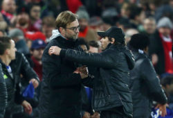 4.06854241 Jurgen Klopp hugs Chelsea manager Antonio Conte after the final whistle during the English championship Premier League football match between Liverpool and Chelsea on January 31, 2017 played at Anfield in Liverpool, Great Britain - Photo Matt West / Backpage Images / DPPI  IBL