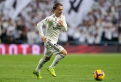 Luka Modric of Real Madrid during La Liga football match between Real Madrid and Valencia CF played at the Santiago Bernabeu Stadium in Madrid, on December 1th 2018