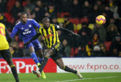 Junior Hoilett of Cardiff City scores a goal
