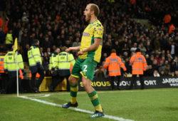 Teemu Pukki of Norwich City celebrates his goal, 3-2