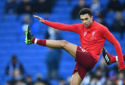 Trent Alexander-Arnold of Liverpool warms up
