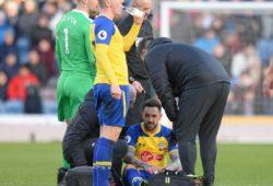 Danny Ings of Southampton goes down injured