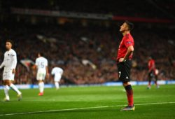 EDITORIAL USE ONLY MANDATORY CREDIT: PHOTO BY JAVIER GARCIA/BPI/REX/SHUTTERSTOCK (10102937CW) ALEXIS SANCHEZ OF MANCHESTER UNITED REACTS MANCHESTER UNITED V PARIS ST GERMAIN, UEFA CHAMPIONS LEAGUE, ROUND OF 16, 1ST LEG, FOOTBALL, OLD TRAFFORD, MANCHESTER, UK - 12 FEB 2019