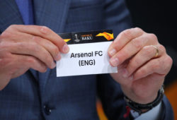 Soccer Football - Europa League - Round of 16 Draw - Nyon, Switzerland - February 22, 2019   Andres Palop draws Arsenal   REUTERS/Denis Balibouse