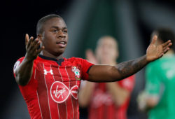 """FILE PHOTO: Soccer Football - Premier League - Huddersfield Town v Southampton - John Smith's Stadium, Huddersfield, Britain - December 22, 2018  Southampton's Michael Obafemi celebrates after the match   Action Images via Reuters/Ed Sykes  EDITORIAL USE ONLY. No use with unauthorized audio, video, data, fixture lists, club/league logos or """"live"""" services. Online in-match use limited to 75 images, no video emulation. No use in betting, games or single club/league/player publications.  Please contact your account representative for further details./File Photo"""