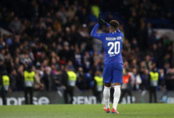 EDITORIAL USE ONLY MANDATORY CREDIT: PHOTO BY PAUL DENNIS/TGS PHOTO/REX/SHUTTERSTOCK (10146547AQ) CALLUM HUDSON-ODOI OF CHELSEA APPLAUDS THE HOME FANS AFTER THE MATCH DURING CHELSEA VS DYNAMO KIEV, UEFA EUROPA LEAGUE FOOTBALL AT STAMFORD BRIDGE ON 7TH MARCH 2019 CHELSEA V DYNAMO KIEV, UEFA EUROPA LEAGUE, FOOTBALL, STAMFORD BRIDGE, LONDON, GREATER LONDON, UNITED KINGDOM - 07 MAR 2019
