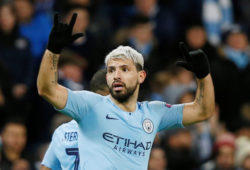 Soccer Football - Round of 16 Second Leg - Manchester City v Schalke 04 - Etihad Stadium, Manchester, Britain - March 12, 2019  Manchester City's Sergio Aguero celebrates scoring their second goal           REUTERS/Andrew Yates