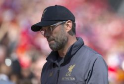 12th May 2019, Anfield, Liverpool, England; EPL Premier League football, Liverpool versus Wolverhampton Wanderers; Liverpool manager Jurgen Klopp amid a sea of red scarves PUBLICATIONxINxGERxSUIxAUTxHUNxSWExNORxDENxFINxONLY ActionPlus12134347 DavidxBlunsden
