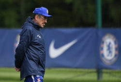 Editorial use only Mandatory Credit: Photo by Simon Dael/BPI/REX (10243514w) Maurizio Sarri manager of Chelsea during a training session held at the Chelsea Media day in the run up to their Europa League Final Chelsea Media Day, Europa League, Football, Chelsea Training Ground, Cobham, UK - 22 May 2019