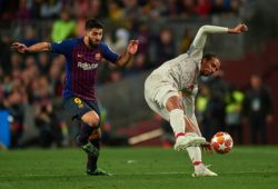 Editorial use only Mandatory Credit: Photo by Bagu Blanco/BPI/REX (10225598bt) Joel Matip of Liverpool FC and Luis Suarez of FC Barcelona FC Barcelona v Liverpool FC, UEFA Champions League 2018-2019, Semi Final First Leg, Football, Camp Nou Stadium. Barcelona, Spain, 01 May 2019.