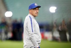 Soccer Football - Europa League Final - Chelsea Training - Baku Olympic Stadium, Baku, Azerbaijan - May 28, 2019   Chelsea manager Maurizio Sarri during training   REUTERS/Maxim Shemetov X90156
