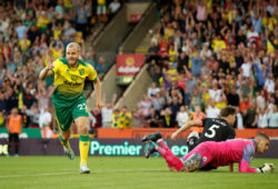 "Soccer Football - Premier League - Norwich City v Manchester City - Carrow Road, Norwich, Britain - September 14, 2019  Norwich City's Teemu Pukki celebrates scoring their third goal  Action Images via Reuters/John Sibley  EDITORIAL USE ONLY. No use with unauthorized audio, video, data, fixture lists, club/league logos or ""live"" services. Online in-match use limited to 75 images, no video emulation. No use in betting, games or single club/league/player publications.  Please contact your account representative for further details.     TPX IMAGES OF THE DAY  X03811"
