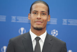 Monaco, Monte Carlo - August 29, 2019: UEFA Champions League Group Stage Draw, Season Kick Off 2019-2020 with Dutch Soccer player Virgil van Dijk of Liverpool winning the Men's player of the year 2018/19 Award. (Photo by Mandoga Media/Sipa USA)
