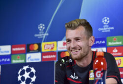 Bayer 04 Leverkusen during the press conference on the eve of the UEFA Champions League match (Group D) between  Juventus FC and Bayer 04 Leverkusen at Allianz Stadium on September 30, 2019 in Turin, Italy.  Pictured: Lukas Hradecky Ref: SPL5119389 300919 NON-EXCLUSIVE Picture by: Antonio Polia / SplashNews.com  Splash News and Pictures Los Angeles: 310-821-2666 New York: 212-619-2666 London: +44 (0)20 7644 7656 Berlin: +49 175 3764 166 photodesk@splashnews.com  World Rights,