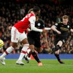City ryöväsi pisteet Arsenalin vieraana – De Bruyne vakuuttavan voiton takuumiehenä