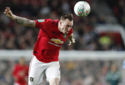 Phil Jones of Manchester United, ManU during the Carabao Cup match at Old Trafford, Manchester. Picture date: 7th January 2020. Picture credit should read: Darren Staples/Sportimage PUBLICATIONxNOTxINxUK SPI-0424-0093