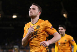 FILE PHOTO: Soccer Football - Europa League - Round of 32 First Leg - Wolverhampton Wanderers v Espanyol - Molineux Stadium, Wolverhampton, Britain - February 20, 2020   Wolverhampton Wanderers' Diogo Jota celebrates scoring their fourth goal and completing his hat-trick   Action Images via Reuters/Carl Recine/File Photo  X03807