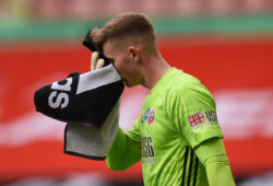 Soccer Football -  FA Cup - Quarter Final - Sheffield United v Arsenal - Bramall Lane, Sheffield, Britain - June 28, 2020 Sheffield United's Dean Henderson, as play resumes behind closed doors following the outbreak of the coronavirus disease (COVID-19) Oli Scarff/Pool via REUTERS  X01348