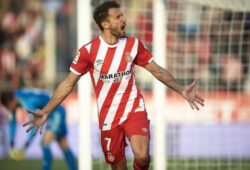 GIRONA, 10-03-2019. LaLiga 2018/ 2019, date 27. Girona-Valencia. Cristhian Stuani of Girona FC celebrates his goal (2-2) during the game Girona 2-3 Valencia Girona - Valencia PUBLICATIONxNOTxINxNED x2942229x