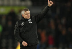 Ole Gunnar Solskjaer manager of Manchester United, ManU celebrates the win during the FA Cup match at the Pride Park Stadium, Derby. Picture date: 5th March 2020. Picture credit should read: Darren Staples/Sportimage PUBLICATIONxNOTxINxUK SPI-0532-0079