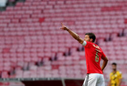 September 26, 2020, Lisbon, Portugal: Ruben Dias of SL Benfica celebrates after scoring a goal during the Portuguese League football match between SL Benfica and Moreirense FC at the Luz stadium in Lisbon, Portugal on September 26, 2020.