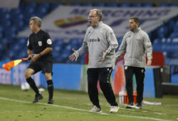 Soccer Football - Carabao Cup Second Round - Leeds United v Hull City - Elland Road, Leeds, Britain - September 16, 2020 Leeds United manager Marcelo Bielsa reacts Pool via REUTERS/Phil Noble EDITORIAL USE ONLY. No use with unauthorized audio, video, data, fixture lists, club/league logos or 'live' services. Online in-match use limited to 75 images, no video emulation. No use in betting, games or single club/league/player publications.  Please contact your account representative for further details.  X01988