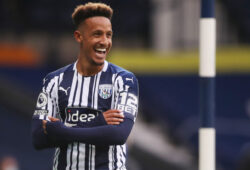 Soccer Football - Premier League - West Bromwich Albion v Chelsea - The Hawthorns, West Bromwich, Britain - September 26, 2020. West Bromwich Albion's Callum Robinson celebrates scoring their first goal Pool via REUTERS/Nick Potts EDITORIAL USE ONLY. No use with unauthorized audio, video, data, fixture lists, club/league logos or 'live' services. Online in-match use limited to 75 images, no video emulation. No use in betting, games or single club /league/player publications.  Please contact your account representative for further details.  X01348