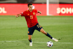 September 6, 2020, Valdebebas, MADRID, SPAIN: Sergio Reguilon of Spain in action during the Nations League football match played between Spain and Ukraine at Alfredo Di Stefano stadium on september 06, 2020 in Valdebebas, Madrid, Spain.