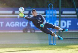 Alphonse Areola ( France ) FOOTBALL : Entrainement de l equipe de France au CNF - Clairefontaine - 02/09/2019 FedericoPestellini/Panoramic PUBLICATIONxNOTxINxFRAxITAxBEL