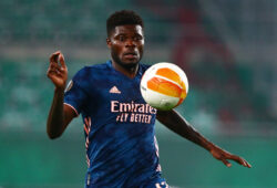 Soccer Football - Europa League - Group B - SK Rapid Wien v Arsenal - Allianz Stadion, Vienna, Austria - October 22, 2020 Arsenal's Thomas Partey in action REUTERS/Lisi Niesner  X02762
