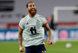 FILE PHOTO: Soccer Football - UEFA Nations League - Group D - Spain v Germany - Estadio La Cartuja, Seville, Spain - November 17, 2020  Spain's Sergio Ramos during the warm up before the match REUTERS/Marcelo Del Pozo/File Photo  X06654