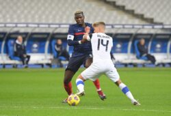Mandatory Credit: Photo by CHRISTOPHE SAIDI/SIPA/Shutterstock (11013084ai) Paul Pogba and Onni Valakari France v Finland, Friendly football match, Paris, France - 11 Nov 2020