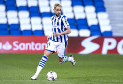 Adnan Januzaj of Real Sociedad during the La Liga match between Real Sociedad and Granada CF played at Reale Arena Stadium on November 8, 2020 in San Sebastian, Spain. (Photo by Ion Alcoba/PRESSINPHOTO)