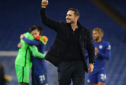 December 5, 2020, London, United Kingdom: Frank Lampard manager of Chelsea celebrates with the fans during the Premier League match at Stamford Bridge, London. Picture date: 5th December 2020. Picture credit should read: David Klein/Sportimage.