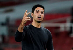 FILE PHOTO: Soccer Football - Premier League - Arsenal v West Ham United - Emirates Stadium, London, Britain - September 19, 2020. Arsenal manager Mikel Arteta. Pool via REUTERS/Will Oliver EDITORIAL USE ONLY. No use with unauthorized audio, video, data, fixture lists, club/league logos or 'live' services. Online in-match use limited to 75 images, no video emulation. No use in betting, games or single club/league/player publications.  Please contact your account representative for further details./File Photo  X01348