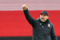 Soccer Football - Premier League - Southampton v Sheffield United - St Mary's Stadium, Southampton, Britain - December 13, 2020 Southampton manager Ralph Hasenhuttl celebrates after the match Pool via REUTERS/Michael Steele EDITORIAL USE ONLY. No use with unauthorized audio, video, data, fixture lists, club/league logos or 'live' services. Online in-match use limited to 75 images, no video emulation. No use in betting, games or single club /league/player publications.  Please contact your account representative for further details.  X01348