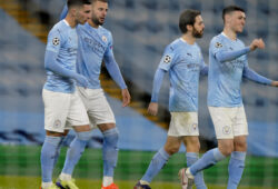 December 9, 2020, Manchester, United Kingdom: Scorer Ferran Torres of Manchester City celebrates the first goal during the UEFA Champions League match at the Etihad Stadium, Manchester. Picture date: 9th December 2020. Picture credit should read: Andrew Yates/Sportimage.