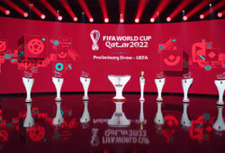 Fussball International 07.12.2020 UEFA-Vorrundenauslosung fuer die FIFA Fussball-Weltmeisterschaft Katar 2022 im Hallenstadion in Zuerich *** Football International 07 12 2020 UEFA Preliminary Draw for the FIFA World Cup Qatar 2022 at the Hallenstadion in Zurich