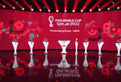 Fussball International 07.12.2020 UEFA-Vorrundenauslosung fuer die FIFA Fussball-Weltmeisterschaft Katar 2022 im Hallenstadion in Zuerich *** Football International 07 12 2020 UEFA Preliminary Draw for the FIFA World Cup Qatar 2022 at the Hallenstadion in Zurich